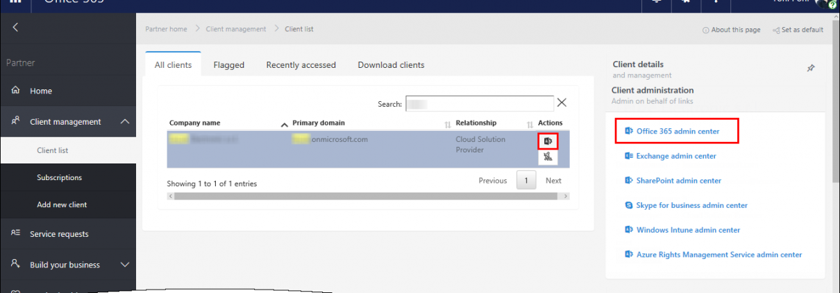 Office 365 Delegated Admin Privileges (DAP)
