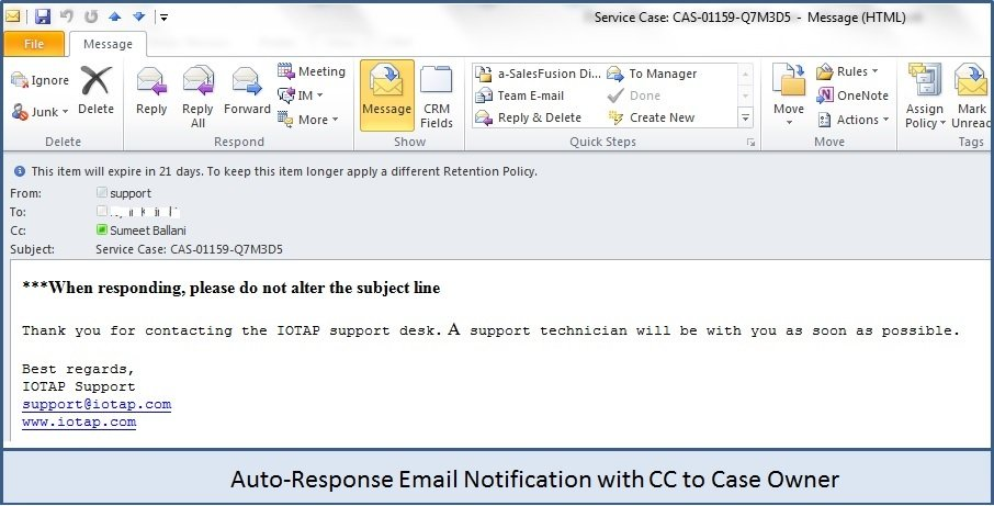 AutoResponseEmailNotification